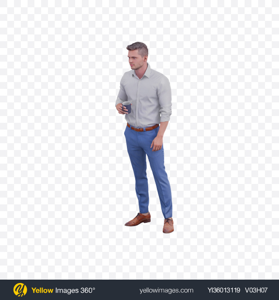 Download Man with Cup Transparent PNG on YELLOW Images