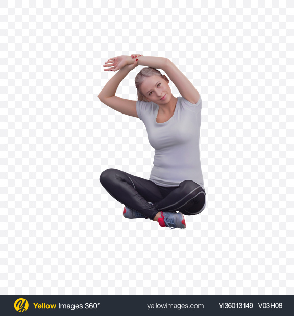 Download Woman Stretching Transparent PNG on YELLOW Images