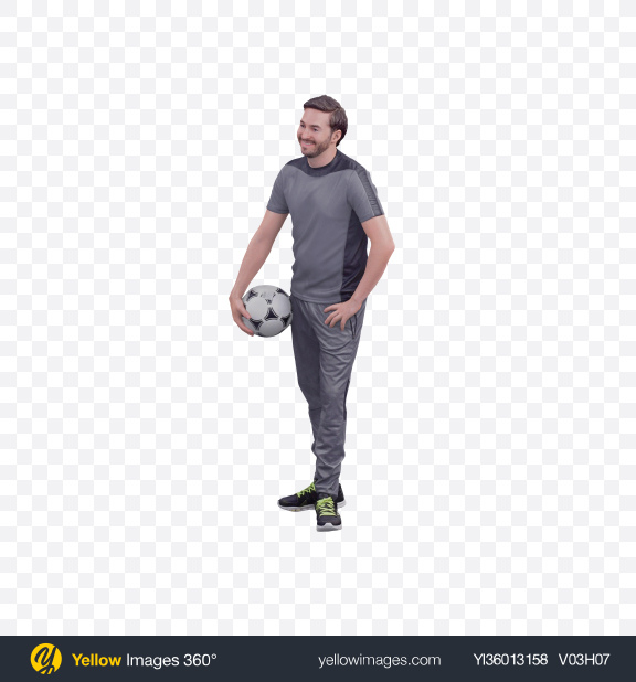 Download Man with Soccer Ball Transparent PNG on YELLOW Images