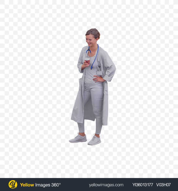 Download Doctor with Cup Transparent PNG on YELLOW Images