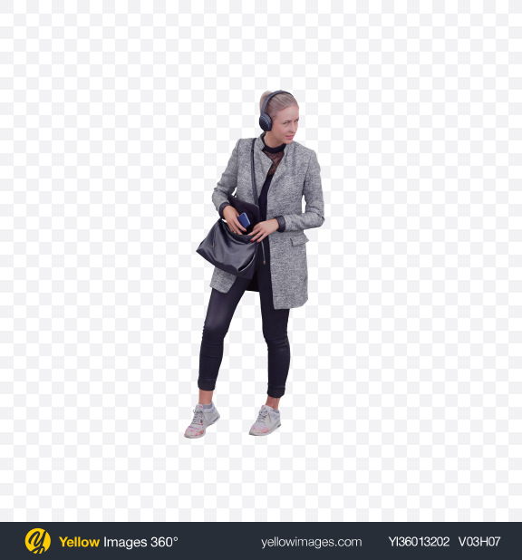 Download Woman Wearing Headphones Transparent PNG on YELLOW Images
