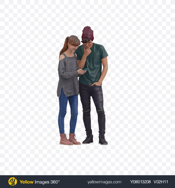 Download Two Teenagers Transparent PNG on YELLOW Images