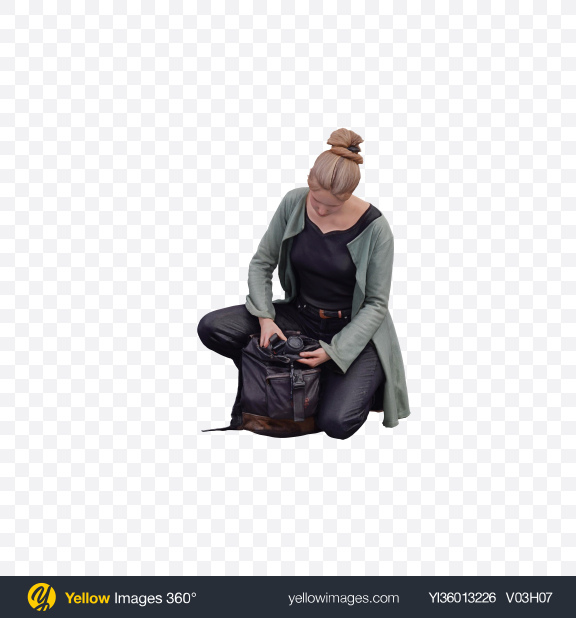 Download Woman with Camera Transparent PNG on YELLOW Images