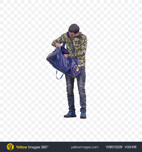 Download Man with Duffel Bag Transparent PNG on YELLOW Images