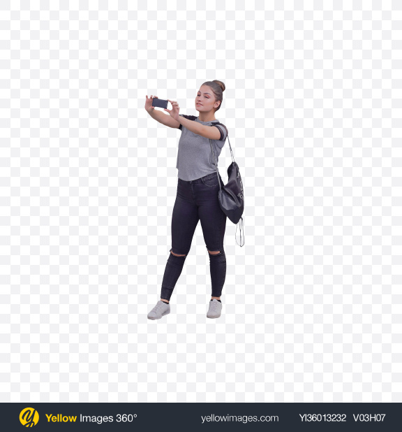 Download Woman Taking Picture Transparent PNG on YELLOW Images