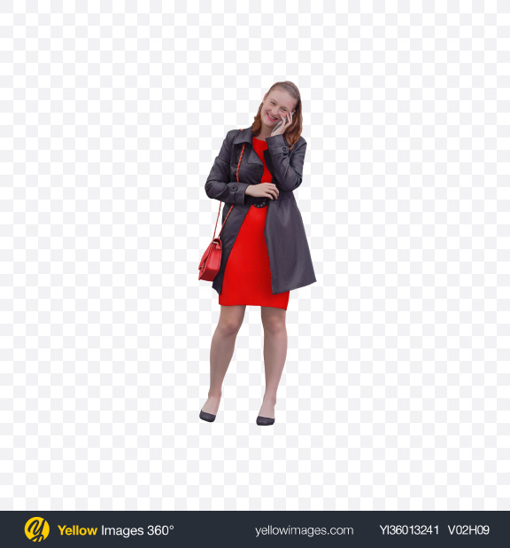 Download Woman Speaking on the Phone Transparent PNG on YELLOW Images