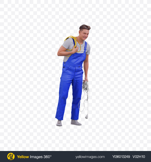 Download Man with Cables Transparent PNG on YELLOW Images