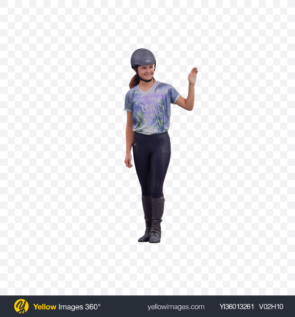 Download Girl Waving Hand Transparent PNG on YELLOW Images