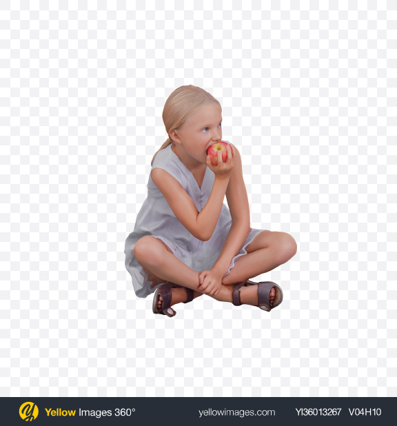 Download Girl Eating Apple Transparent PNG on YELLOW Images