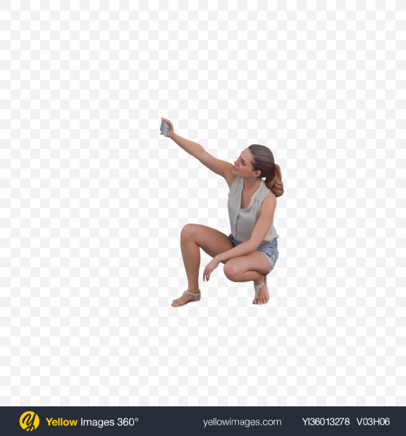 Download Woman Taking Selfie Transparent PNG on YELLOW Images