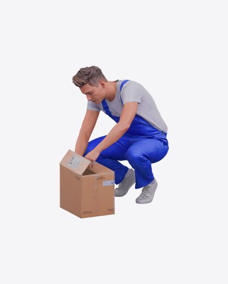 Man Checking Box