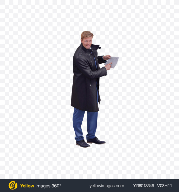 Download Man Pointing at Letter Transparent PNG on YELLOW Images
