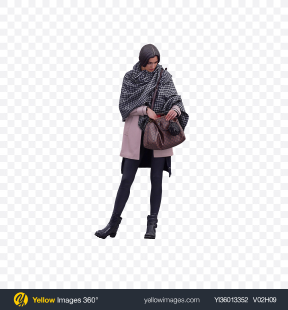 Download Woman with Handbag Transparent PNG on YELLOW Images