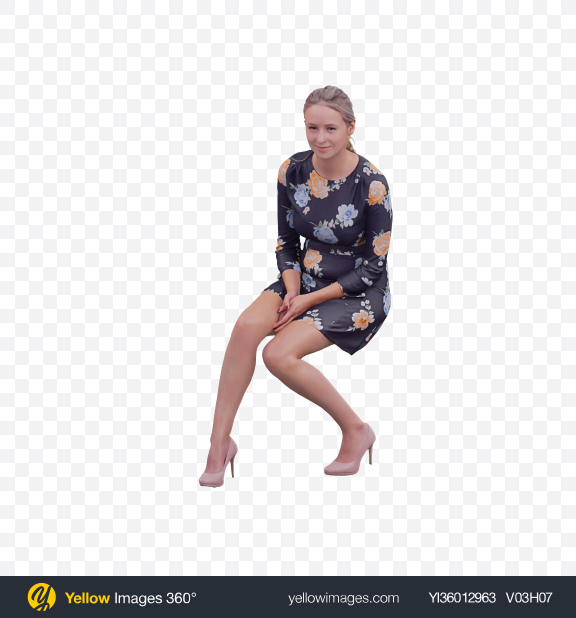 Download Woman Sitting Transparent PNG on YELLOW Images