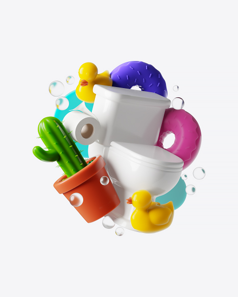 Abstract Toilet Set