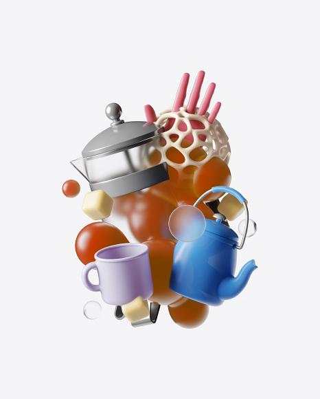 Abstract Tea Set