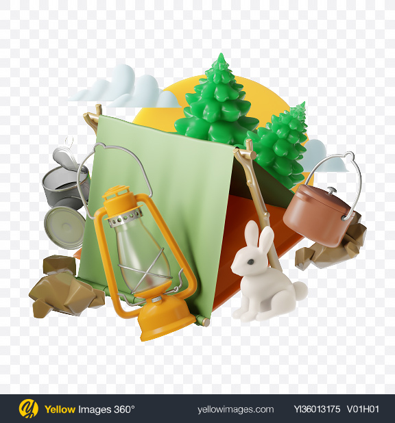 Download Abstract Hiking Set Transparent PNG on YELLOW Images