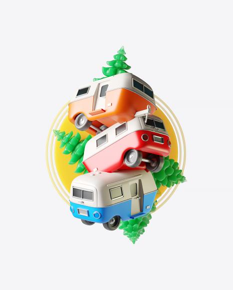 Abstract Caravan Set