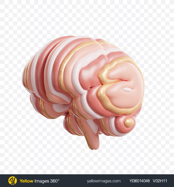 Download Abstract Brain Transparent PNG on YELLOW Images