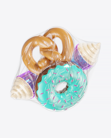 Wrapped Abstract Food Set