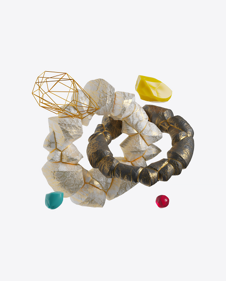 Abstract Set with Stones