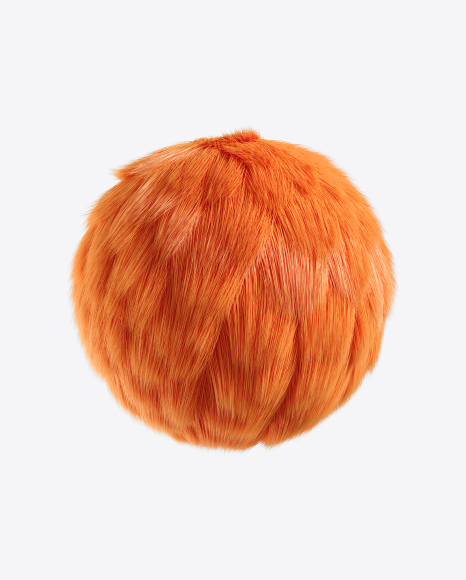 Orange Fur Sphere