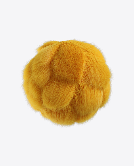 Yellow Fur Sphere