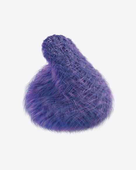 Purple Fur Shape