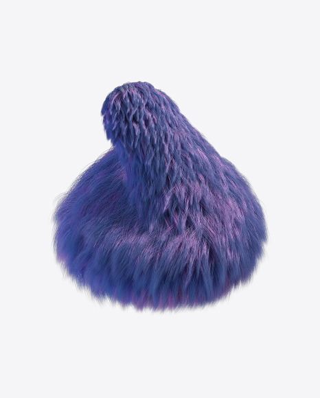 Purple Fur Shape