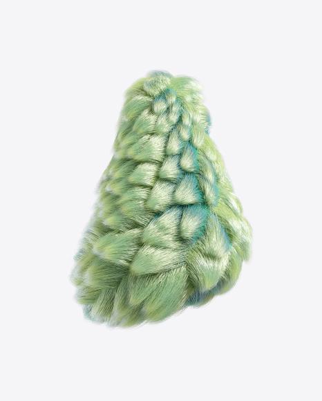 Green Fur Shape