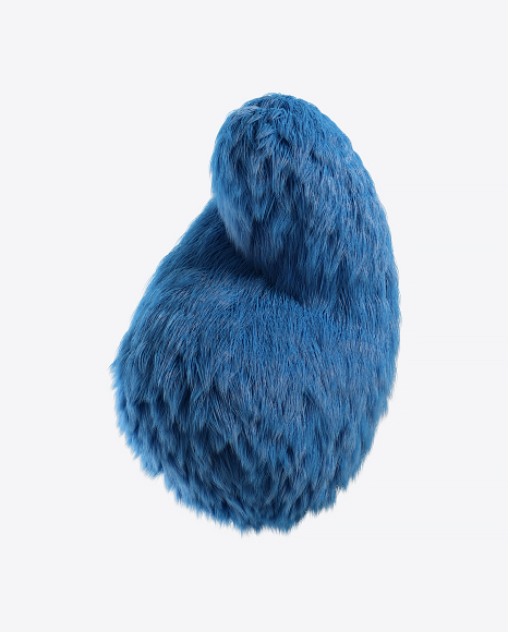 Blue Fur Shape