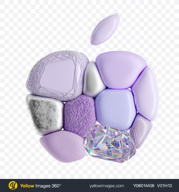Download Abstract Apple Shape Transparent PNG on YELLOW Images