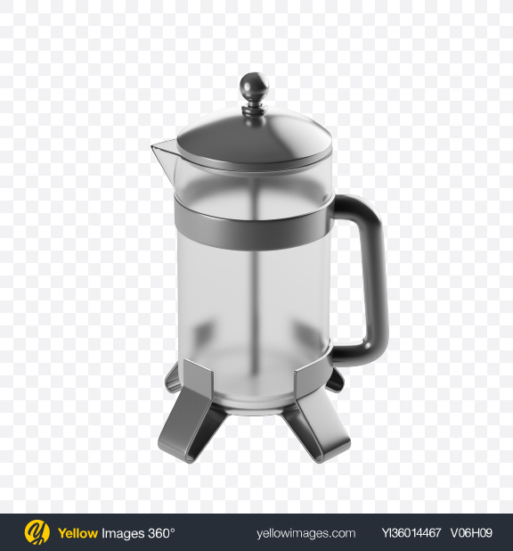 Download Stylized French Press Transparent PNG on YELLOW Images