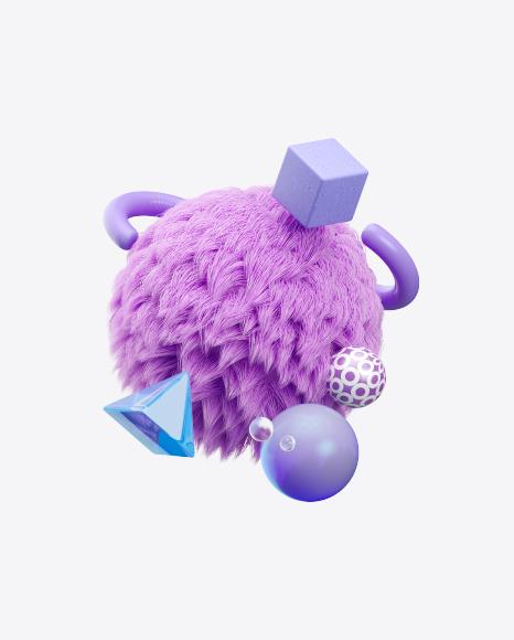 Abstract Purple Set