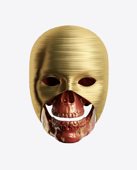 Abstract Skull w/ Mask