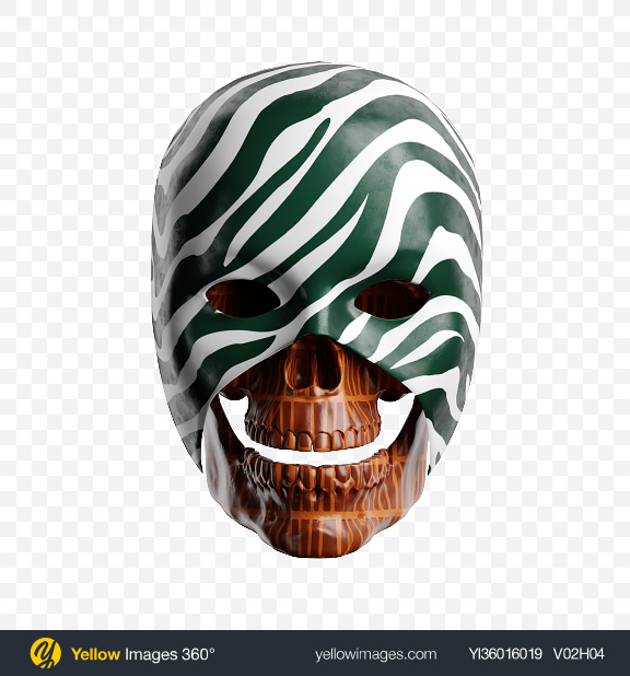 Download Abstract Skull w/ Mask Transparent PNG on YELLOW Images
