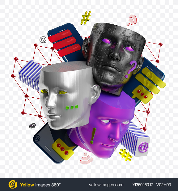 Download Abstract Cyber Set Transparent PNG on YELLOW Images