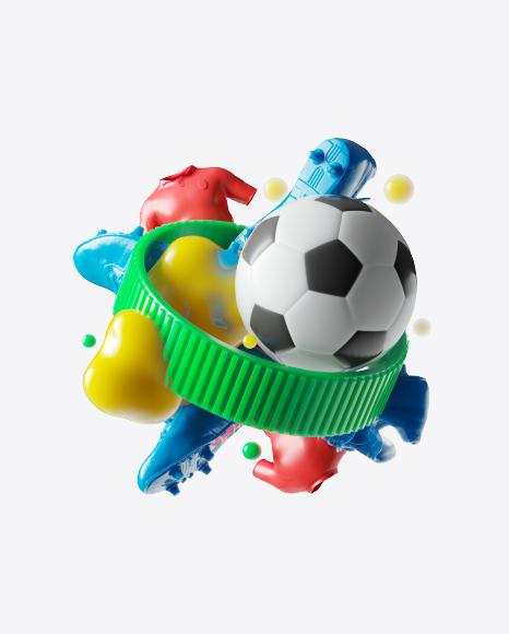 Abstract Football Set