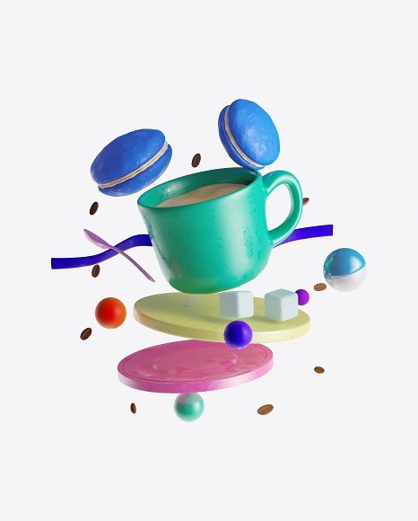 Abstract Cafe Set