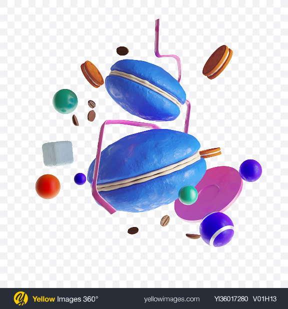 Download Abstract Cafe Set Transparent PNG on YELLOW Images
